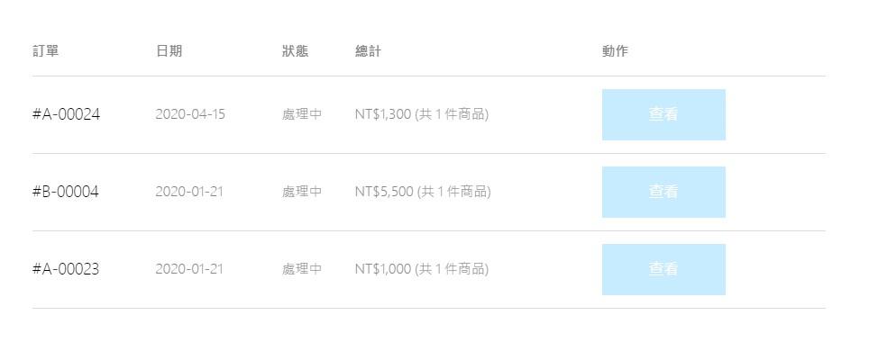 Hong Tour Taiwan查看訂單狀態